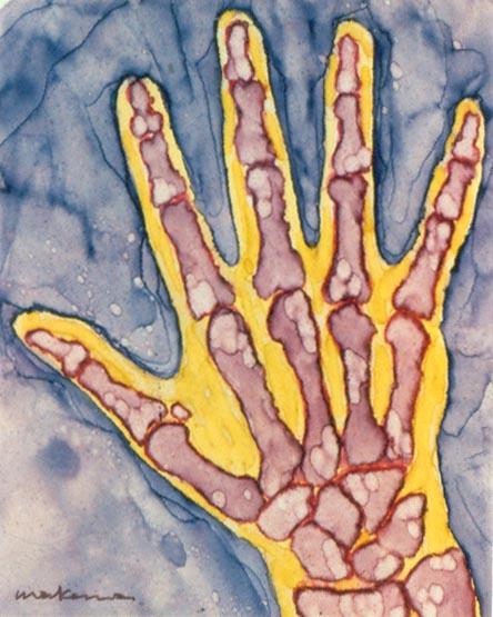Opposing Thumb, Oil Marker, 5x7, Original Sold